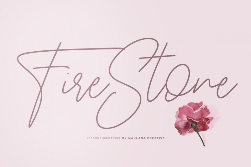 Fire Stone Signature Font