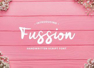 Fussion Handwritten Script Font