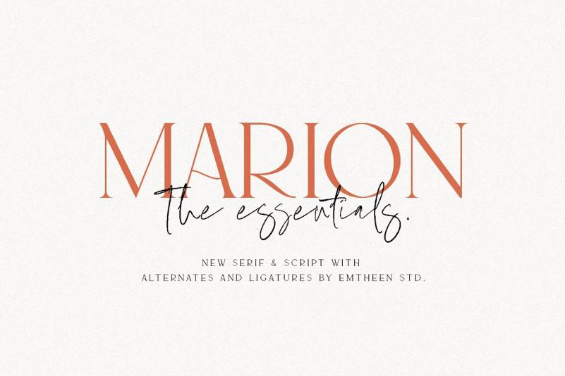 MARION & The Essentials - Logo Font