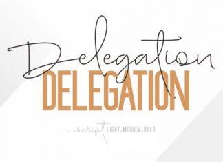 Delegation Font Family