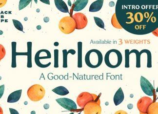 Heirloom Font Family
