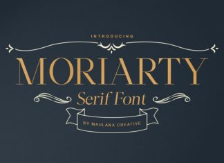 Moriarty Serif Font