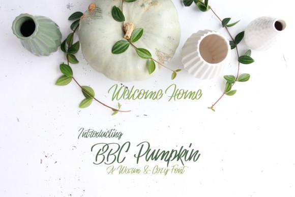 BBC Pumpkin Font