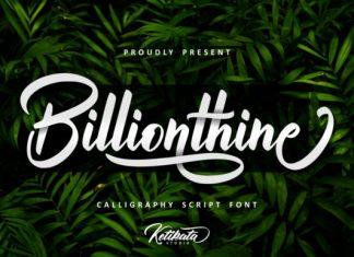 Billionthine Script Font