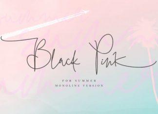 Black Pink Summer Font
