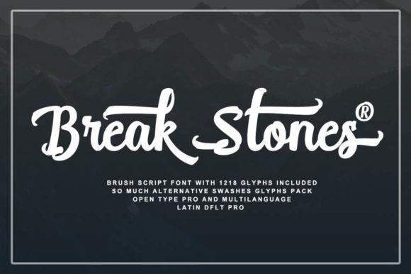 Break Stones Font