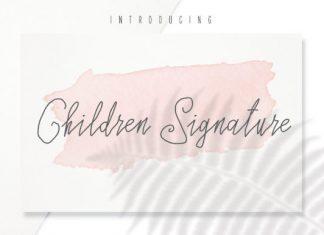 Children Signature Font