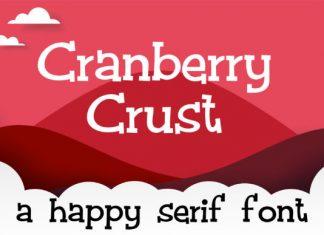 Cranberry Crust Font
