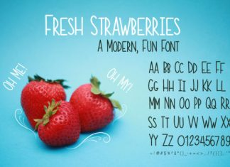 Fresh Strawberries Font
