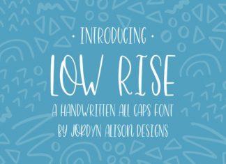 Low Rise Font