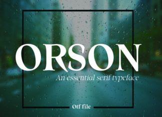 Orson Font