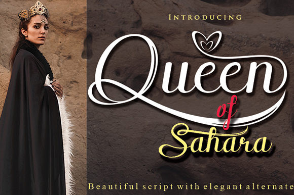 Queen of Sahara Font