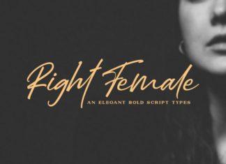 Right Female Font
