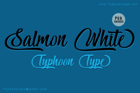 Salmon White Font
