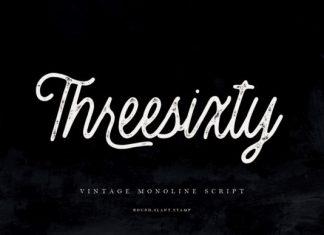 Threesixty Font
