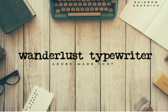Wanderlust Typewriter Font