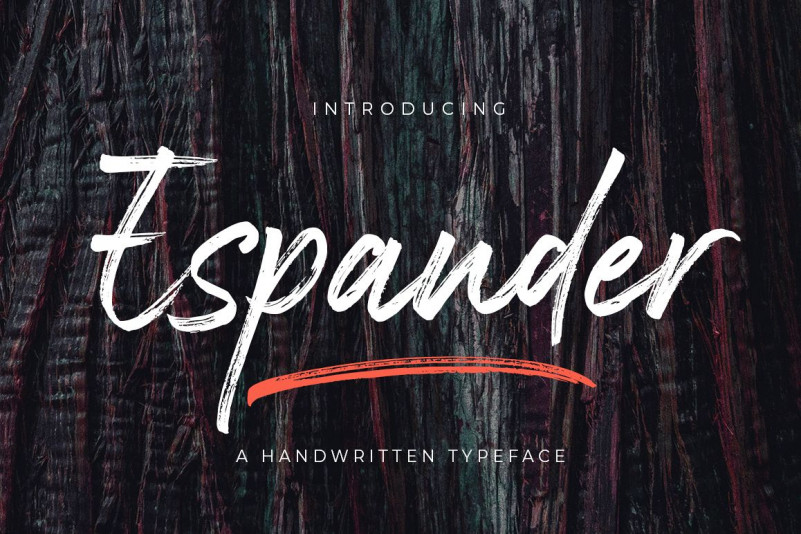 Espander - Handwritten Typeface Script Font