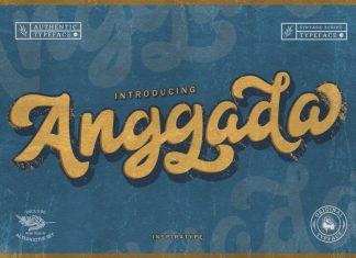 Anggada - Vintage Script Font