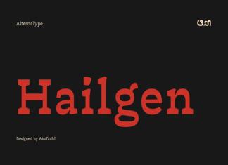 Hailgen Typeface Font