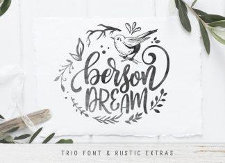 Berson Dream Font TRIO and extras