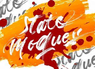 State Moques | Brush Script Font