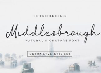Middlesbrough Natural Signature Font
