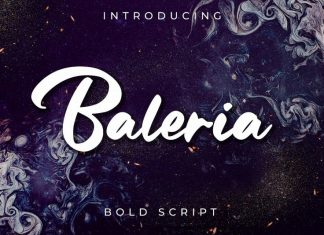 Baleria Script Logo Font