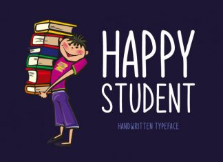 Happy Student Font