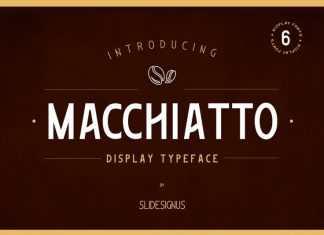 Macchiato Display Font