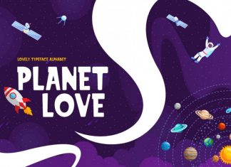 Planet Love - Fun Children Typeface