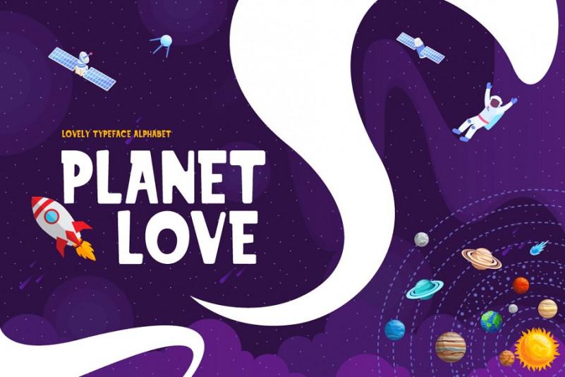 Planet Love - Fun Children Typeface
