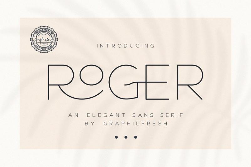 Roger - An Elegant Sans Serif