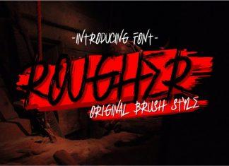 Rougher Brush Font