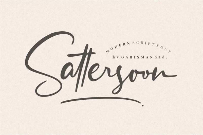 Sattersoon - Modern Script Font