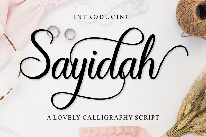 Sayidah Lovely Script