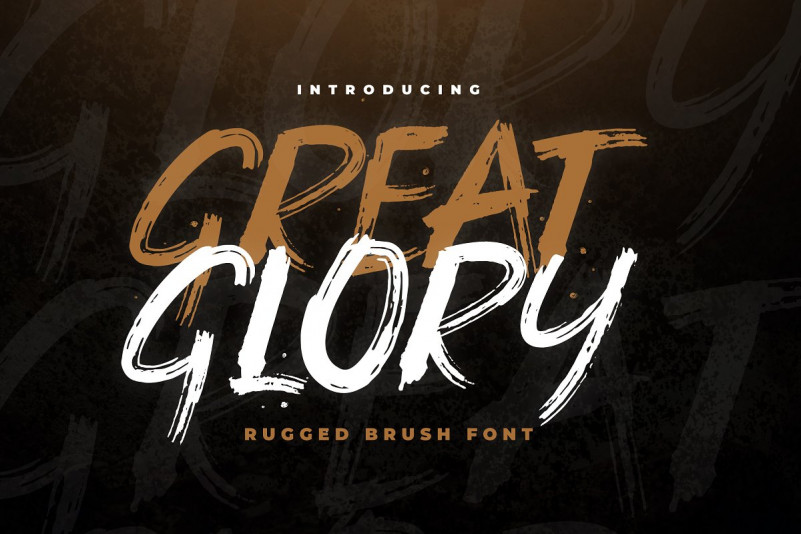Great Glory Brush Font