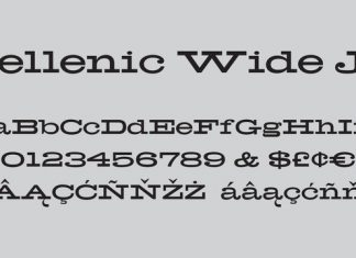 Hellenic Wide Font