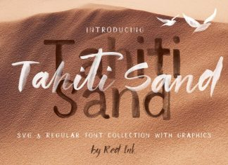 Tahiti Sand. Fonts and Graphics.