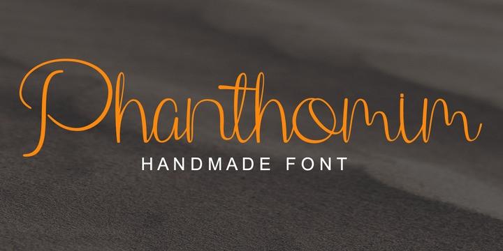 Phanthomim Font