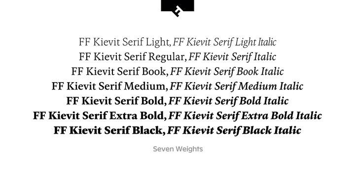 FF Kievit Serif Font Family