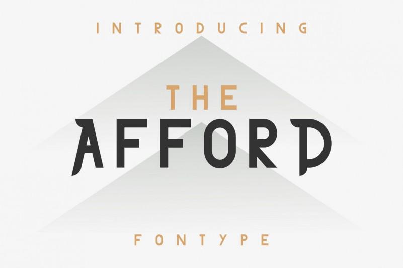THE AFFORD Font