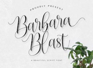 Barbara Blast Font