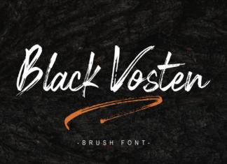 Black Vosten Font