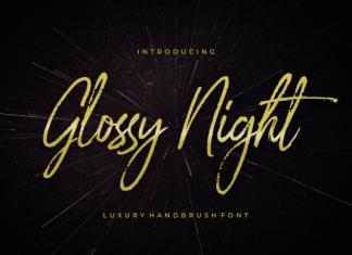 Glossy Night Font