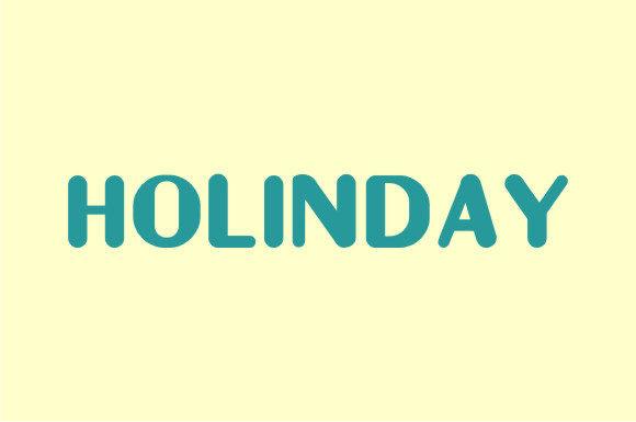 Holinday font