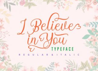 I Believe in You Font