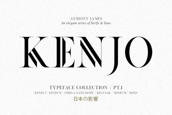 Kenjo & Omega Font