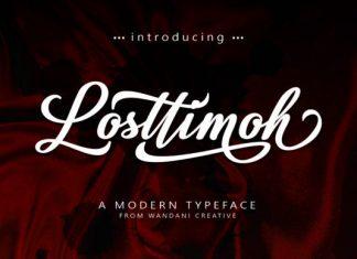 Losttimoh font