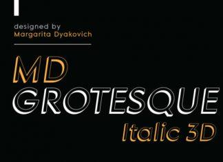 Grotesque Italic Font