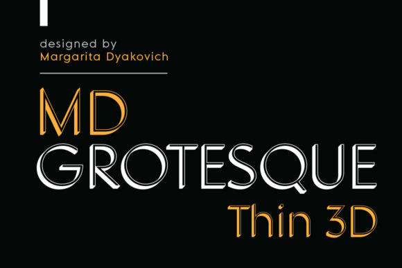 MD Grotesque Thin Font